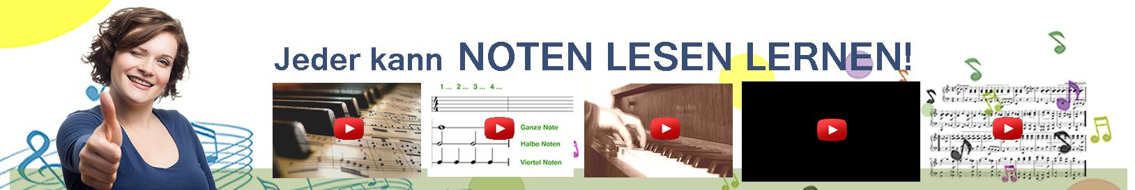 Jeder kann Noten lesen lernen - Notenlesen Motivation