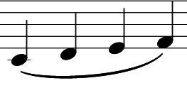 legato - Töne gebunden